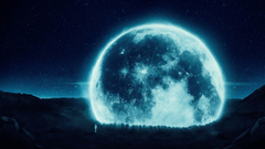 Full Moon And Astronaut Wallpapers