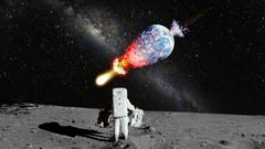 Astronaut NASA Moon Landing Moon Explosion Galaxy Milky Way Stars