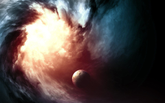 Glowing black hole Wallpapers