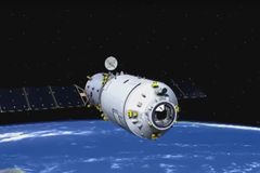 China s first automated cargo spaceship has docked with the