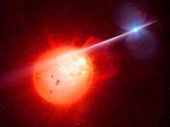 Artist s impression of the exotic binary star system AR Scorpii