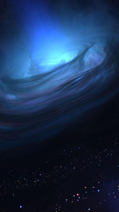 Black Hole 3D Render Android Wallpapers