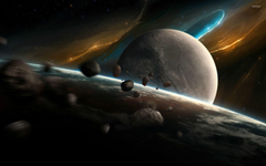 Planets and asteroids 2 wallpapers