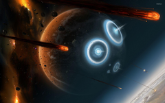 Planets hit by asteroids wallpapers