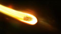 Wallpapers asteroid breaks in atmosphere desktop backgrounds