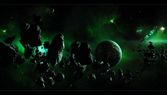 ships asteroids belt planet HD wallpapers