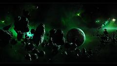 ships asteroids belt planet HD wallpapers