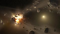 Asteroid Belt Between Mars And Jupit HD Wallpaper Backgrounds Image