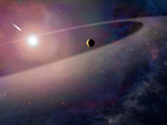 Hubble Finds Extrasolar Kuiper Belt Object Ripped Apart by White