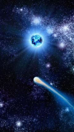 Comet across space Nexus 6 Wallpapers Nexus 6 wallpapers and