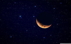 Moon Waning Crescent 4K HD Desktop Wallpapers for 4K Ultra HD TV