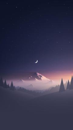 Crescent Moon Night Black Sky Wallpapers Hd Luxury Constellations