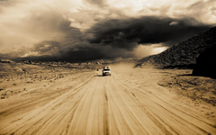 Wallpapers desert storm dust car desktop wallpapers Nature