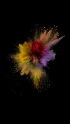 Colorful Dust Smoke Burst Explosion Art iOS9 Wallpapers