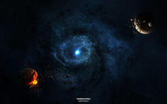 Wallpapers dark dust envelops blue spot desktop backgrounds