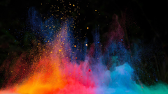 Multicolor Dust Explosion Wallpapers