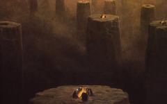 Horror Dust Skeletons Artwork Pillars Campfire Zdzislaw Beksinski