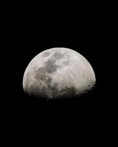 Space moon sky crater night dark