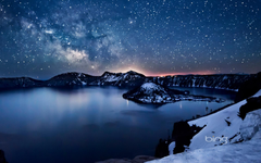 Milky Way above Crater Lake Oregon