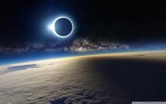 Solar Eclipse from Space 4K HD Desktop Wallpapers for 4K Ultra HD TV