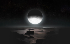 Wallpapers space stars surface satellite Pluto a dwarf planet