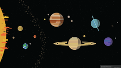Stylized scale Solar System wallpapers