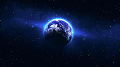 Circle of blue light around the Earth Wallpapers