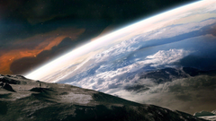 Artwork Astronauts Earth Outer Space Travel