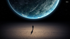 Man looking at Earth from space wallpapers