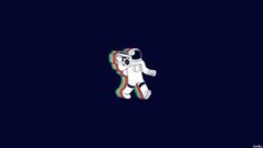 Boombox threadless astronauts blue backgrounds cosmonaut wallpapers