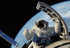 art space land space ship universe cosmonaut astronaut