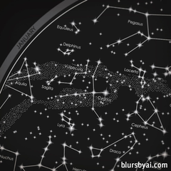 Maps of the sky with constellations blursbyai