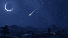 Falling Stars Meteors Wallpapers Wallpapers Wednesday