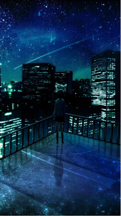 Girl Looking At Falling Star Android Wallpapers