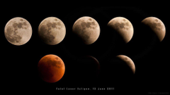 lunar eclipse wallpapers by MahmoudYakut