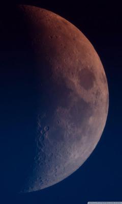 Moon increasing Half Moon 4K HD Desktop Wallpapers for 4K Ultra