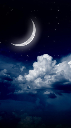 Sky clouds moon iPhone wallpapers of night stars view and scenery