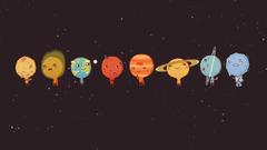 Planets illustration space Sun Venus Mercury HD wallpapers