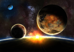Planets of the solar system Mercury and Venus wallpapers and image