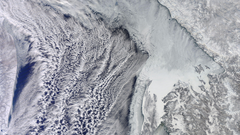 Snowy Earth from satellite wallpapers