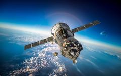 Wallpapers Soyuz space Earth atmosphere orbital station
