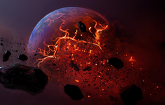 Wallpapers meteorite planet dead planet burning earth image for