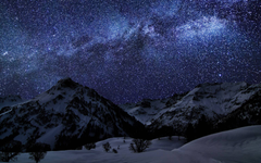 Milky Way above the mountains Wallpapers