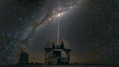 Milky way laser night observatory skies wallpapers