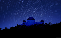 Griffith Observatory at Night Star Trails 4K HD Desktop