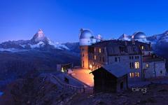 kulm hotel zermatt switzerland sky mountain weather station