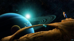 Outer space planets science fiction wallpapers