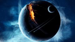 outer Space Planets Broken Spaceships Wallpapers HD Desktop