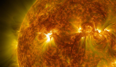 Solar flare sun fire glow psychedelic space abstract star