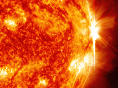 Solar flare sun fire glow psychedelic space abstract stars h